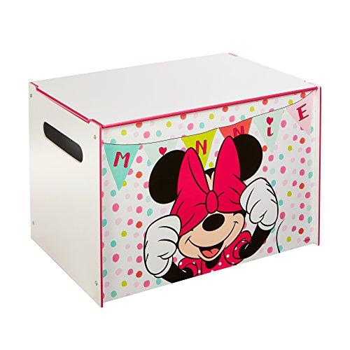 Minnie Mouse - Spielzeugkiste für Kinder - Aufbewahrungsbox für das Kinderzimmer (Spielzeugkiste Minnie)