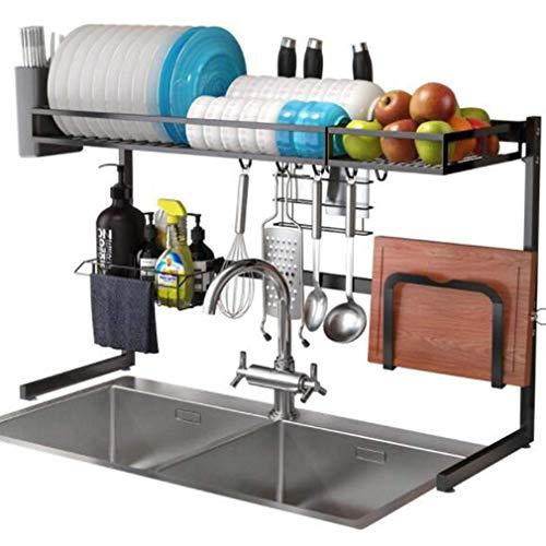 Xue-Shelf Geschirrtrockner über Spüle, Multifunktionsspüle Geschirrablage Abtropfgestell, Edelstahl Spüle Schüssel Rack Küche Platzsparend Muss haben