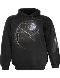 Wolf-Träume, gotische Fantasie Metall Wölfe schwarze Pullover - M - Spiral