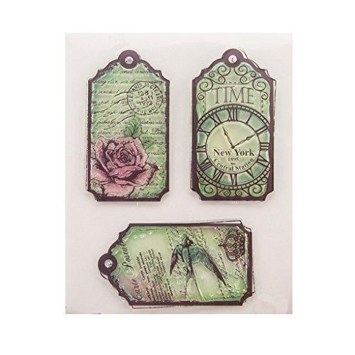 ECMQS Time DIY Transparente Briefmarke, Silikon Stempel Set, Clear Stamps, Schneiden Schablonen, Bastelei Scrapbooking-Werkzeug