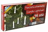 Iden Berlin LED Außenlichterkette mit 16 Kerzen für Außen 8582156