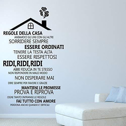 Wallflexi Adesivi da Muro Regole della casa 2–Italian...