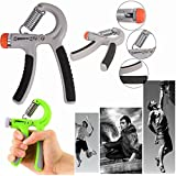 Getko With Device Hand Exerciser Strength Trainer Adjustable Fitness Hand Power Grip 10-40kg Grip Strengthener...