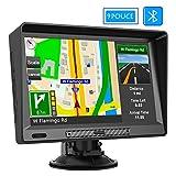 AWESAFE GPS Navigation Auto Écran Tactile de 9 Pouces Carte Intégrée de 48 Pays Européens Fonction Bluetooth Pare-Soleil
