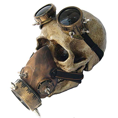 OOBY Fashion Steampunk Goggles Gasmaske Halloween Requisiten Geschenke, -