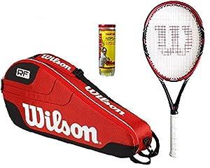 Wilson Federer Pro BLX Tennis Racket + Federer Bag + 3 Balls RRP £240 Review 2018 from Wilson