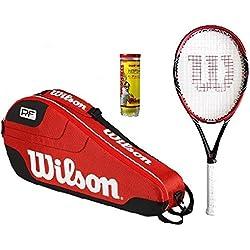 Wilson Envy azul raqueta de tenis Wilson 3 bolsillos exteriores dobles bolsa para raquetas 3 bolas + £210