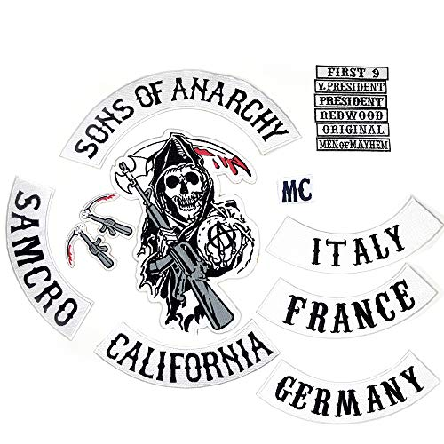 Sons of Anarchy - Parche Coser Completamente idéntico
