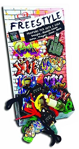 Preisvergleich Produktbild Freestyle Candy 141Deodorant Auto Rückspiegel Anhänger, mehrfarbig, Set von 4
