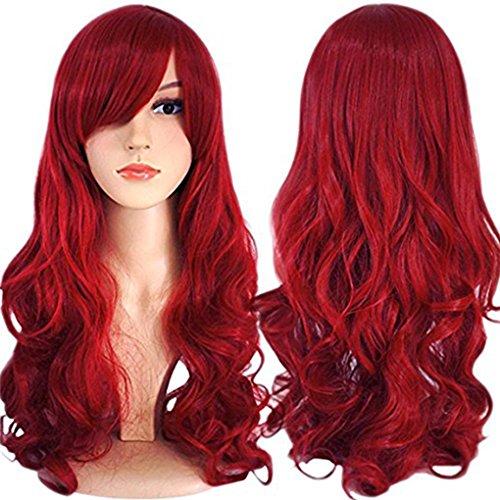 Charmante langhaarige Perücke für Damen, hitzeresistentes, synthetisches, natürliches, gewelltes Haar, Ombre Dip Dye, Perücke für jeden Tag, Partykostüm