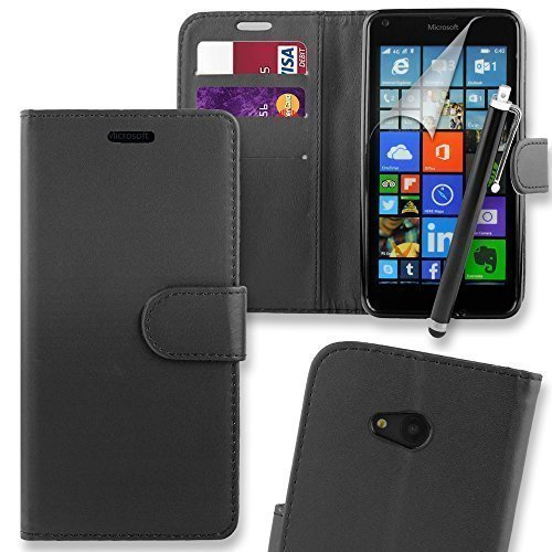 connect-zoner-microsoft-lumia-550-pu-leather-flip-wallet-case-cover-pouch-with-screen-protector-poli