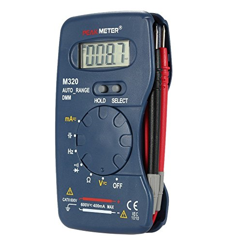 Peakmeter M320tragbar Handheld Mini Digital Multimeter AC/DC Spannung Strom Widerstand Frequenz Kapazität Messung Diode Kontinuität Test Daten Halt
