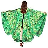 Schöner Schmetterlingsflügel Schal Fee Cosplay Kostüm St Patrick's Day (B, Size:168*135CM)