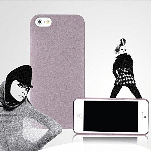 TPU peau Quicksand Shell protection Retour Housse pour iPhone 5 vert