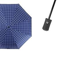 JUNDY Windproof Travel Umbrella, Clear & Compact Design, Fast Drying Coating, Fully automatic tri-fold cartoon umbrella