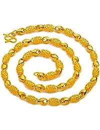 cdb6cc156a7e MAGAI Monedas de Euro de latón Puro 24 k Chapado en Oro joyería Hombres y  Mujeres