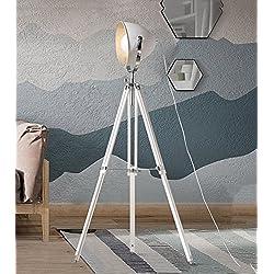 ZENGAI Lampadaire Lampe au sol en fer lampe de bureau rétro rétro simple lampe de bureau appareil photo trépied studio lumière du sol/avec source lumineuse (Couleur : Lumière blanche-H/1630MM)