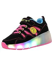 Los nuevos niños del invierno shoes zapatos de niña zapatos del rodillo sola rueda patines niño con ruedas Baozou zapatos para adultos