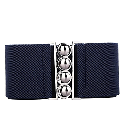 Tedim - 4 Clasp Style 3 Inch Wide Elastic Waspie Corset Waist Belt womens ladies girls fashion