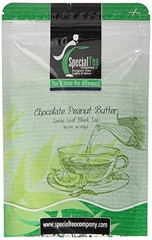 Chocolate Peanut Butter Loose Leaf Black Tea 3 oz. with Free Tea Infuser