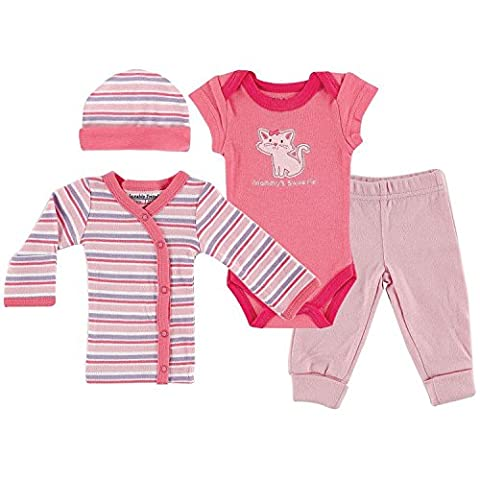 Luvable Friends Premature Baby Layette Gift Set (Pink Kitty)