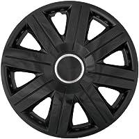 Cartrend 70269 Set de tapacubos Cosmos negro, 4-piezas, 35,56 cm (14 pulgadas) - Set de 4 piezas