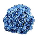 Demarkt Bouquet Seide Blumen Home Decor Blumen Strauß Hochzeitsdekoration Blumen Blau