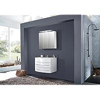 SAM® Badmöbel Set 2 Tlg, Dali, Hochglanz Weiß, Softclose Badezimmermöbel