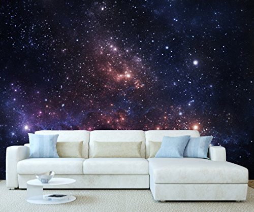 StickersWall Space Universe Galaxy Planet Stars Wall Mural Photo Wallpaper Picture Self Adhesive 1065 (342cm(W) x 242cm(H))