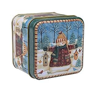 Loveble Scatola di latta di Natale Scatola di contenitori di latta di carta multi-modello di caramelle e carte regalo di Natale