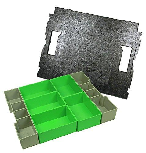 Preisvergleich Produktbild Bosch Sortimo Insetboxenset D Höhe 6 cm und Deckeleinlage