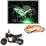 #6: 2 Pc. Vheelocityin 45 cm Waterproof Flexible Tube Strip Light Motorcycle LED Light - Green For Honda Navi