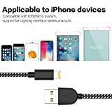 TNSO Phone Charger Cable 5 Pack[3/3/6/6/10 FT] Extra Long Nylon Braided Cable Compatible with Phone X/8/8 Plus/7/7 Plus/6/6 Plus/6S/6S Plus/5/5S/SE - Black&White
