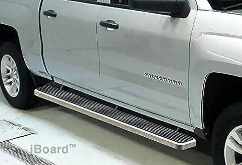 5 iBoard Running Boards Fit 07-16 Chevy Silverado/GMC Sierra Crew Cab Nerf Bar Side Steps Tube Rail Bars Step Board by APS