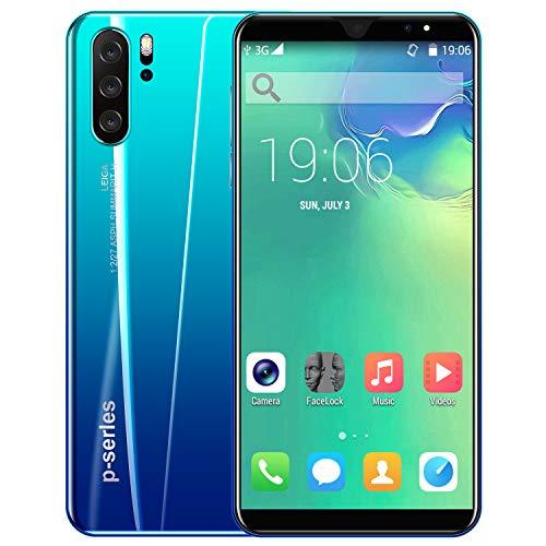 Yiwa Pantalla Frontal de 5,8 Pulgadas Cámara Frontal de 8MP P33 Plus Smartphone 4G + 64G 4000mAh Batería Azul Degradado Regulaciones Europeas