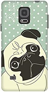 The Racoon Lean printed designer hard back mobile phone case cover for Samsung Galaxy Note 4. (Pug Life)