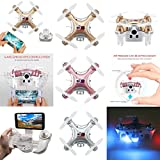 WiFi and Remote Controlled Mini Quadcopter, Volarvin® - Super Micro Nano Quadcopter RC Drone with Camera Led Lights and Remote 2.4G 4 Channel 3D Gyro 6 Axis with 360 Stunt Spin Flips (Only 4.5x4.5x2.5cm)