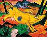 1art1 50814 Franz Marc - Die Gelbe Kuh, 1911 Poster Kunstdruck 50 x 40 cm