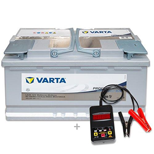 Preisvergleich Produktbild Varta Professional AGM LA95 - 12 V / 95 Ah - 850 A/EN inkl. Batterietester