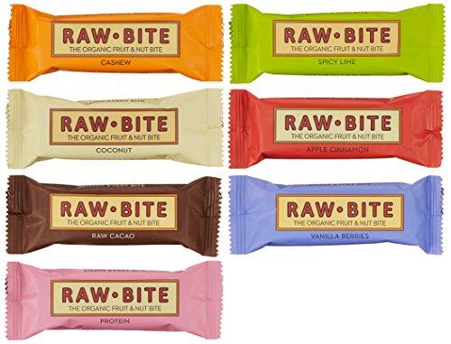 flapjack riegel Raw Bite Rohkost (7 Riegel), Mix- Paket, 1er Pack (1 x 350 g)