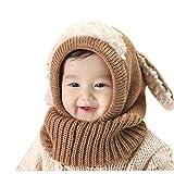 Longzjhd Babybekleidung Hüte Mützen Niedlich Winter Baby Jungen Warm Woll Haube Kapuze Schal Mützen Kinder Warm Gestrickter Mütze Beanie Mütze Haube Kappe Schnee Hut Schalmütze