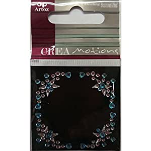 Cristal transparent bleu décoratif ornement décoratif Fixations, boîtes et sachets cadeau décoration pour carte Scrapbooking Stickers