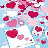 Selbstklebende Herzen aus Schaumstoff für Kinder zum Basteln - für Karten zum Valentinstag und Muttertag (150 Stück)