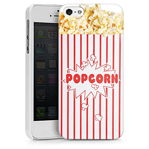 Apple iPhone 5c Silikon Hülle Case Schutzhülle Popcorn Kino Design Hard Case weiß