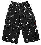 Shiwi Kinder Badeshorts Shorts Badehose Boardshorts Totenkopf Skull Schwarz 140
