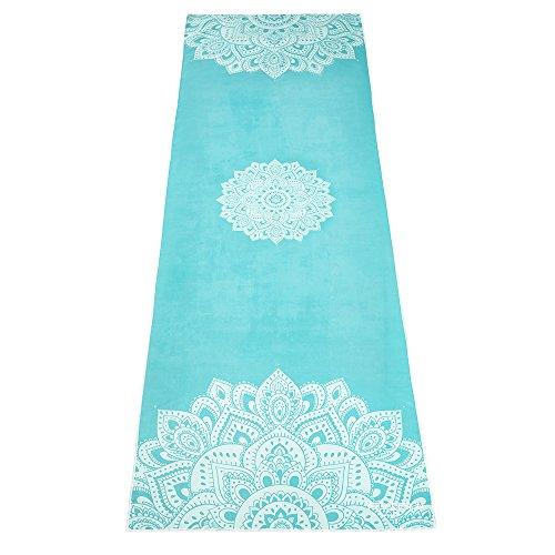 Das Öko Hot Yoga Handtuch. Rutschfest und leicht. Sehr saugfähiges Mikrofaser Handtuch, dass in nur wenigen Minuten trocknet. Waschmaschinenfest....
