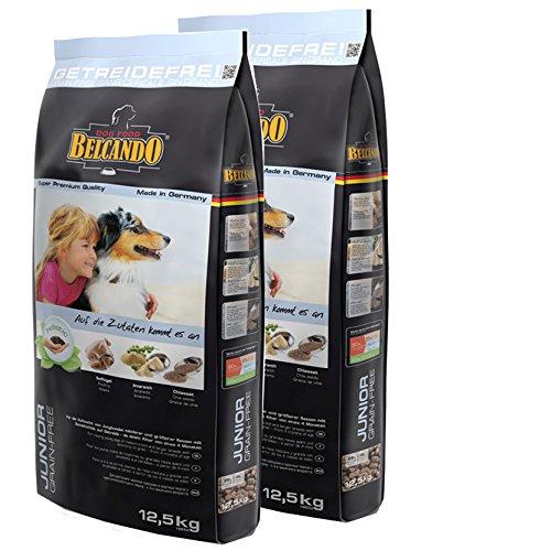 2x12,5 kg Belcando JUNIOR Grain-Free getreidefreies Hundefutter mittlere Rassen