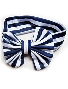 LUFA Cotton Baby-Stirnband-Bogen-Knoten Kopf Streifen-Baby-Kind-Haar-Accessoires schwarz