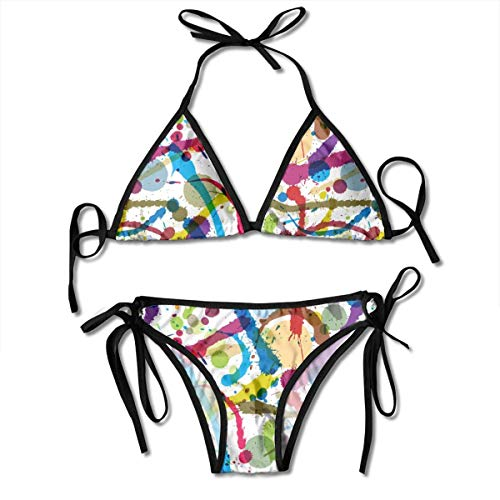 Fashion Sexy Womens Ink Splatters and Drops Pattern