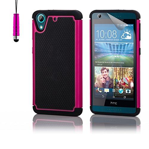 32nd® Funda Rígida Anti-Choques de Alta Proteccion para HTC Desire 626 Carcasa Defensora de Doble Capa - Rosa
